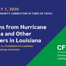 Community Connection in Times of Crisis: Lessons from Hurricane Katrina