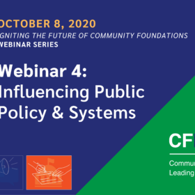 Igniting the Future Webinar Series 4 – Influencing Public Policy & Systems